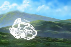 Ep4 3D Tadpole Ship - Cloaked