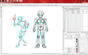 1 - posing the character