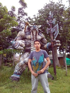 010 DOTA Tauren Chieftain Statue at Hacienda de Naga
