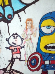 019 Melvin's Drawing at their Art Wall