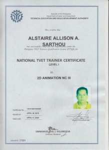 Alstaire Allison Sarthou-NTTC I 2D Animation NCIII