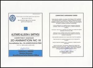 Alstaire Sarthou ID -2D Animation NCIII
