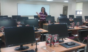 Grace at 3D training room_HRD center in Taguig
