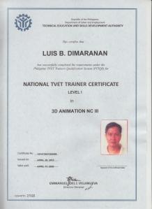 Luis Dimaranan-NTTC I 3D Animation NCIII