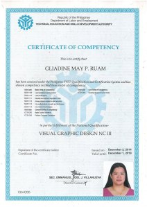 RUAM_ one COC only of VGD certificate