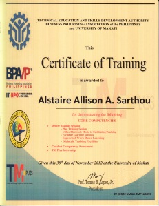TMplus Training Certificate
