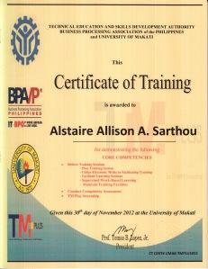 TMplus Training Certificate
