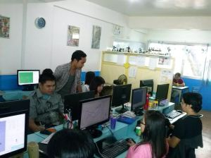 Trainees at Top Peg with Instructor Melvin Deondo