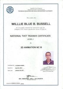willie NTTC _for NCIII