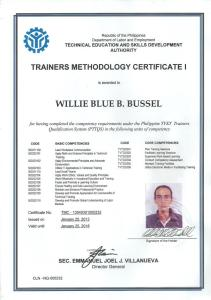willie_TMC certificate