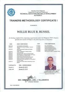 willie_TMC certificate