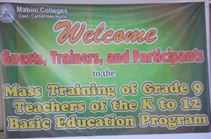 Deped mass training _mabini colleges