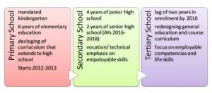 primary,secondary, tertiary