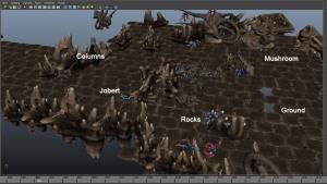 Alien Terrain 3D Artist Staging